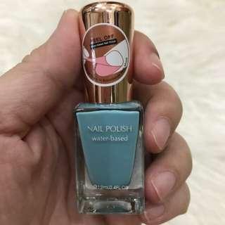 Miniso nail polish peel off water based blue atau kutek miniso