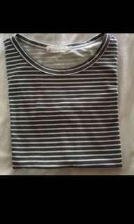 ulzzang basic striped shirt