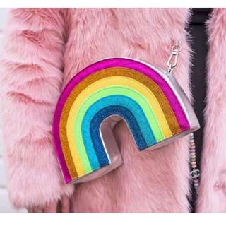 全新 SkinnyDip 彩虹側背袋 👜 Glitter Rainbow Crossbody Bag