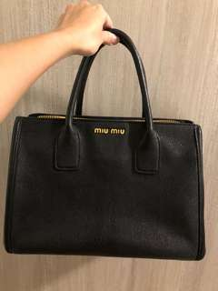 Mui Mui Leather Bag 98% new Original price $10,800