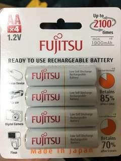 日本製充電池 AA 4粒裝 1900mAh