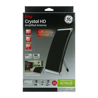 GE Pro Crystal HD Amplified Antenna ( 40 Mile Range)