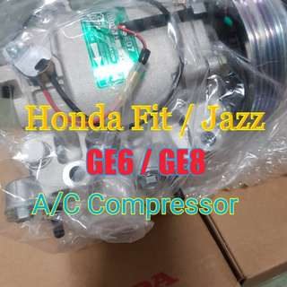 Honda Fit Jazz GE6 GE8 aircon compressor (original Sanden made for honda)