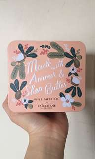 L'Occitane gift set with body butter and hand cream