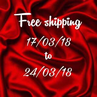 FREE SHIPPING/POSTAGE