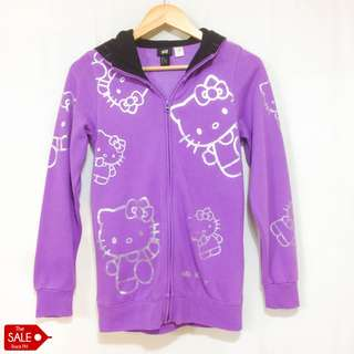 H&M x Hello Kitty Hooded Purple Jacket