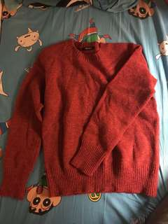紅色長袖冷衫