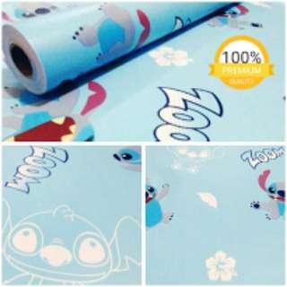 Grosir murah wallpaper sticker dinding kartun anak stitch