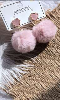 Puff Ball Earring