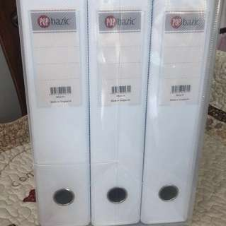 Set of 6 White files