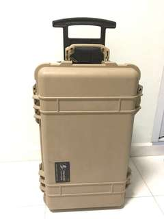 PELICAN CASE 1510 ROLLING CASE - TAN with! PHOTO INSERT ✅