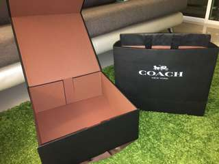 Coach paper Box and paper bag