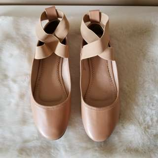 Urban Outfitters Ballet Ankle Strap Flats