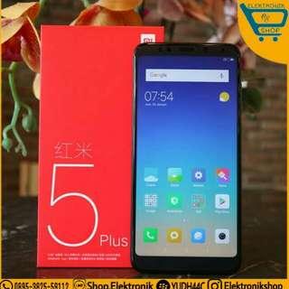 Xiaomi redmi 5 plus 4/64 black tam  bisa kredit proses 3 menit tanpa kartu kredit