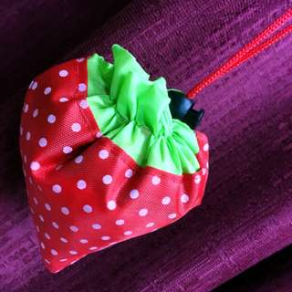 Foldable Strawberry Bag Carrier with Handles Loop