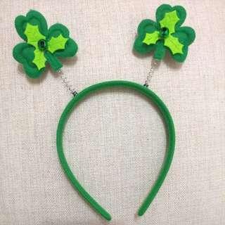 IRISH 綠色花花頭飾