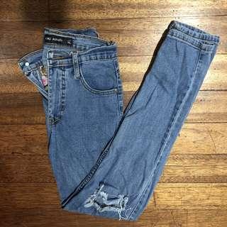 High-waist Ripped Denim Joni Jeans