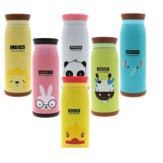 Botol minum termos air stainless karakter animal 500ml