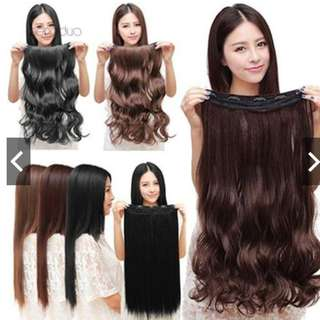 Clip in Hair Extensions Long Wavy Curly Hair