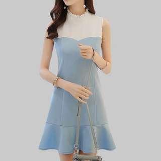 Mermaid dress; Sleeveless high waist gown; ulzzang Korean kpop jpop; woman women female girls ladies lady; elegant classy;