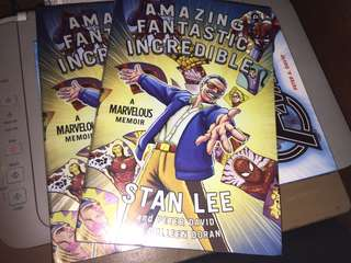 Marvel Comics: Amazing Fantastic Incredible : A Marvelous Memoir (Hardcover) by Stan Lee
