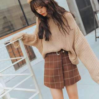 Vintage Style Skirt AA Plaid Checkered; retro trend; ulzzang kpop jpop Korean; woman women female girls ladies lady; formal casual work office school;