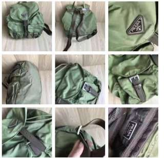 包順豐 Prada medium size backpack in army green 背包 軍綠色 #gucci Lv Chanel