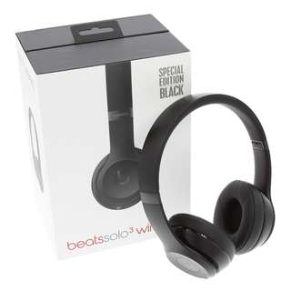 Beats Solo3 Wireless On-Ear Headphones - Special Edition Black (Matte)