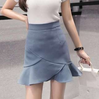 High Waist Mermaid Bodycon Skirt; ulzzang Korean kpop jpop; formal office work smart casual; lady ladies woman women female girls;