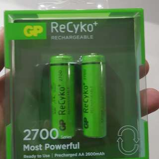 Battery aa rechargeable new but open