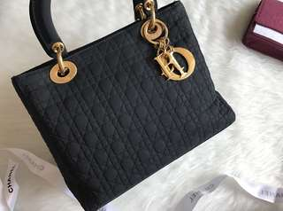 Vintage Lady Dior HandBag with Chain