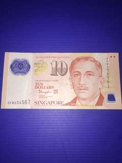 Singapore Portrait $10 Jumbled Ladder