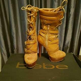 EUC Bebe camel boots size 6