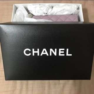 Chanel classic square 17cm 粉紫色