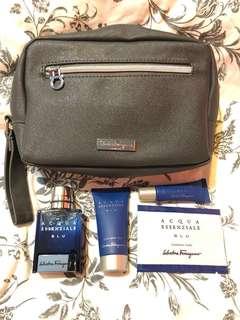 Salvatore Ferragamo travel set w pouch