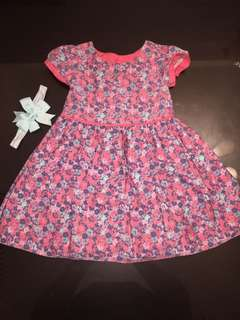 Beautiful 12 - 18 months dress with matching headband