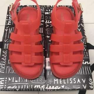 BNIB Mini Melissa Flox, USA 8, orange red. It's BRA 22, EUR 24 & 14.5 JPN
