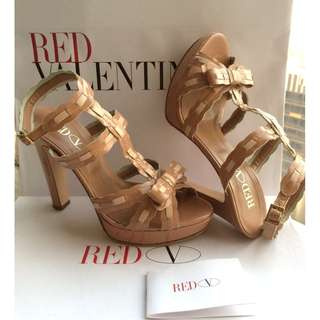 Red Valentino  Patent Leather Heel Sandal Shoes  *Size 38  #Made in Italy  @