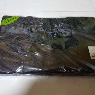 NaRaYa - Rectangular Black Satin Shoulder Bag
