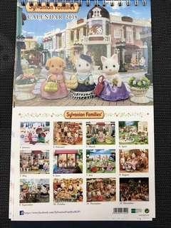 Sylvanian families 2018 calendar