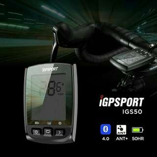100%NEW IGPSPORT IGS50 ANT+ GPS Cycling Computer 無線ANT+ GPS單車碼錶~~~送SRAM 碼錶延伸座