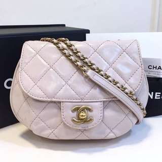 Authentic Chanel Pink Flap Bag