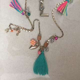 Summer style necklace with tassel