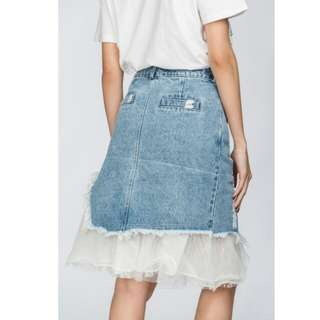 Denim Skirt with tulle ( BRAND NEW)