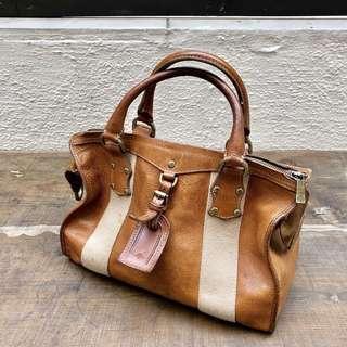 MULBERRY vintage leather handbag bag 手袋古董 gucci fendi