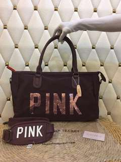 Victoria's Secret Duffel Bag - Chocolate Brown