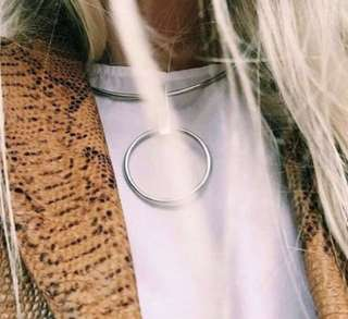 🍃Jayna Hoop Necklace (Price Reduced)