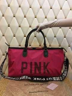 Victoria's Secret Duffle Bag - Pink and Black Combo
