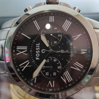 Fossil Chronograph Smartwatch- Q Grant  Stainless Steel