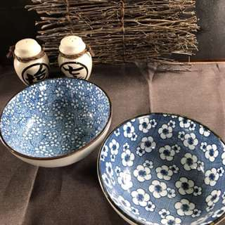 🚚 陶瓷日式復古印花碗